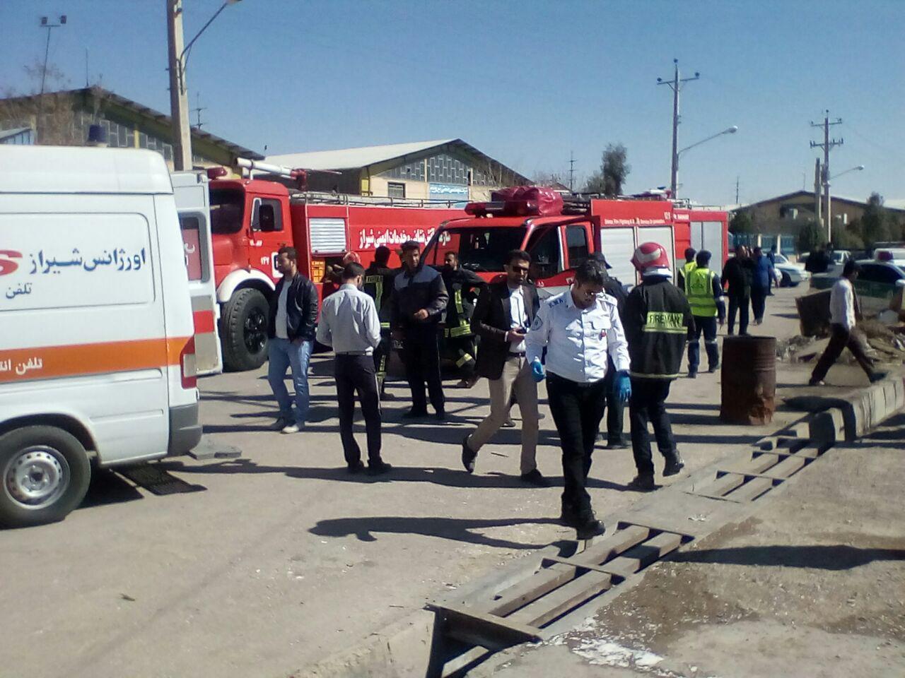 دو کشته و دو مصدم بر اثر انفجار دیگ بخار در شهرک صنعتی شیراز