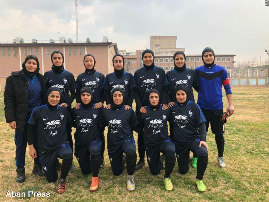 پیروزی پرگل تیم فوتبال بانوان فارس مقابل تیم آذرخش تهران