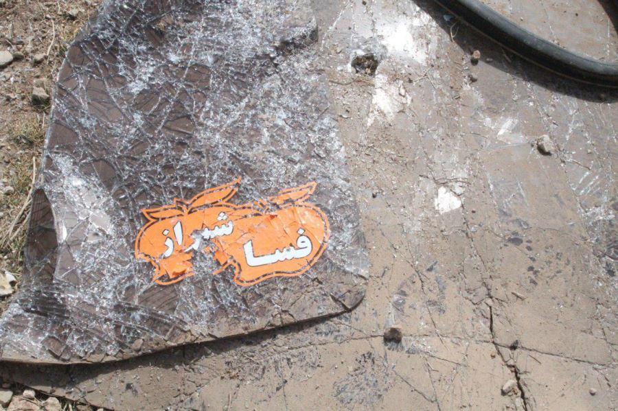 آلبوم عکس؛ واژگونی اتوبوس شیراز-فسا