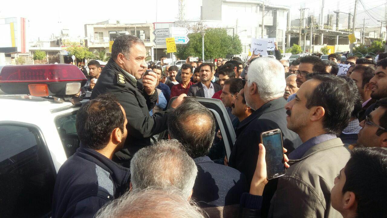 تجمع اعتراضی در واکنش به طرح تقسیم کازرون فارس