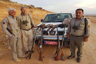 """بازداشت ۱۳ """"شکارچی غیرمجاز"""" در سپیدان"""