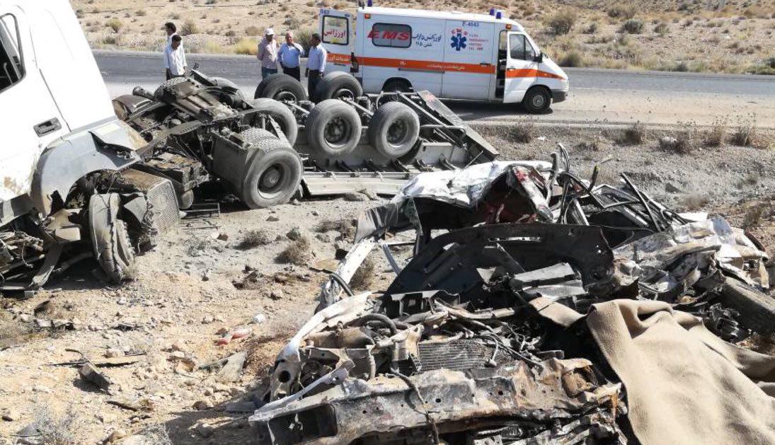 ۴ کشته بر اثر تصادف در جاده داراب – بندرعباس