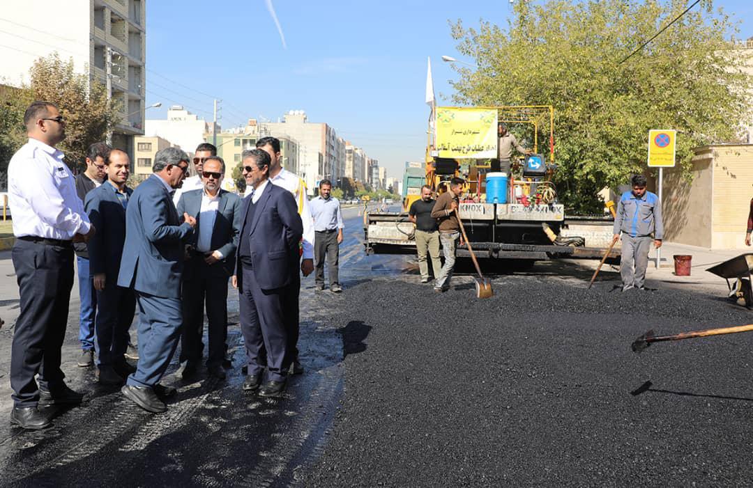 """آغاز عملیات """"نهضت آسفالت"""" در شیراز"""