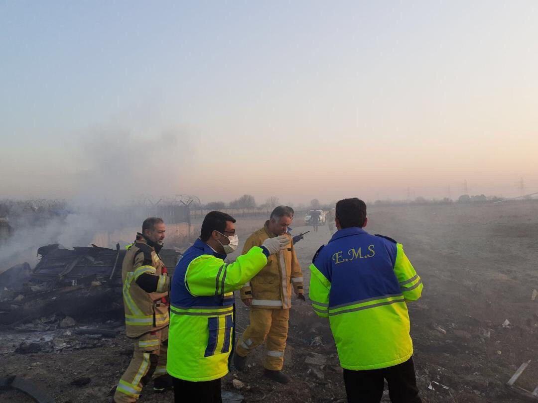 سقوط هواپیمای اوکراینی در اطراف تهران