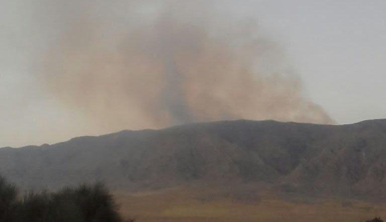 آغاز دوباره آتشسوزی در کوه سپیدار فارس